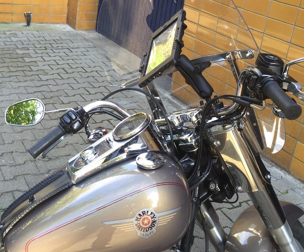 Harley-Davidson mit ipad