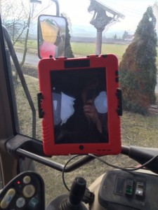 iPad im Trecker