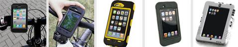 Die Produkte von outdoorcover im Überblick - Schutz für iphone 4, ipod und ipad